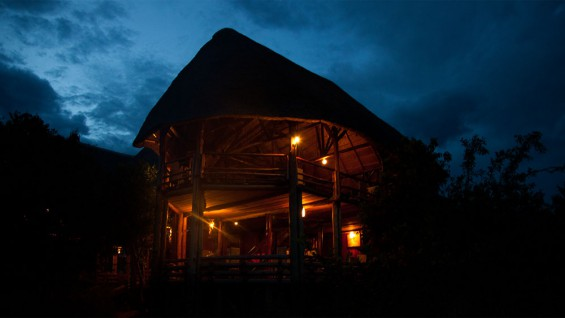 Mburo Safari Lodge at night