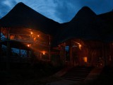 Mburo Safari Lodge Restaurant at night